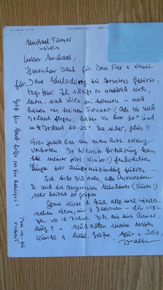 Einer der ersten Briefe ...