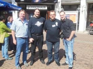 Gerry Haynaly, Robert Corvus, Rüdiger Schäfer und Dennis Mathiak beim Garching-Con 2015